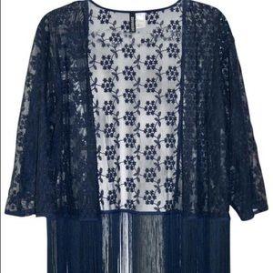 2/$40 🌻 H&M Lace Fringe Kimono